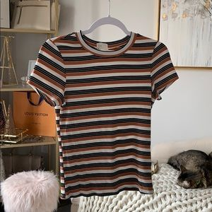 Tops - Striped Ribbed Tee